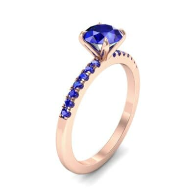 Channel-Set Blue Sapphire Ring (0.3 Carat)