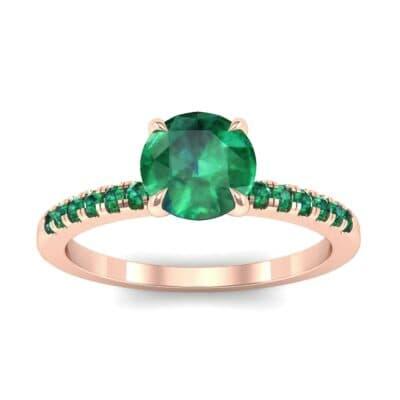 Channel-Set Emerald Ring (0.3 Carat)