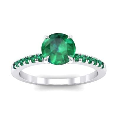 Channel-Set Emerald Ring (0.3 Carat)