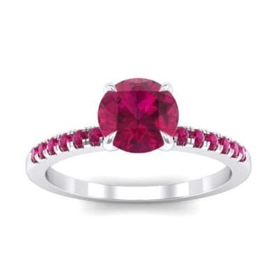 Channel-Set Ruby Ring (0.3 Carat)