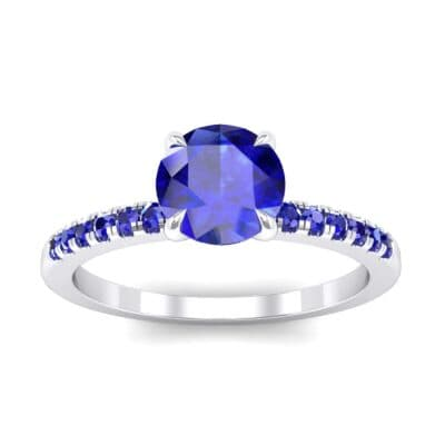 Channel-Set Blue Sapphire Ring (0.3 Carat)