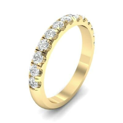 Classic Half Pave Diamond Ring (0.39 Carat)