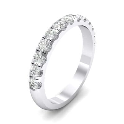 Classic Half Pave Crystal Ring (0.39 CTW)