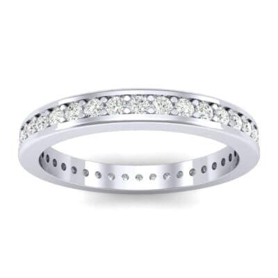 Flat-Sided Pave Diamond Eternity Ring (0.57 Carat)