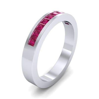 Channel-Set Princess-Cut Ruby Ring (0.8 Carat)
