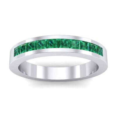 Channel-Set Princess-Cut Emerald Ring (0.8 Carat)