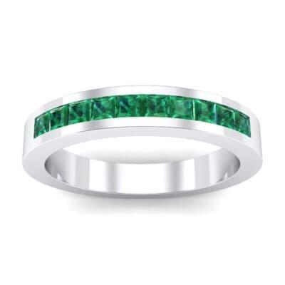 Channel-Set Princess-Cut Emerald Ring (0.8 Carat)