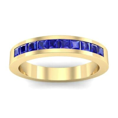 Channel-Set Princess-Cut Blue Sapphire Ring (0.8 Carat)