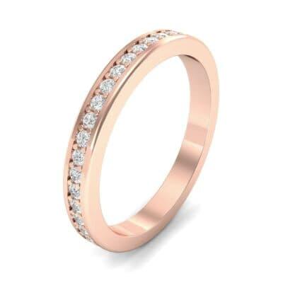 Light Flat-Sided Pave Diamond Eternity Ring (0.42 Carat)
