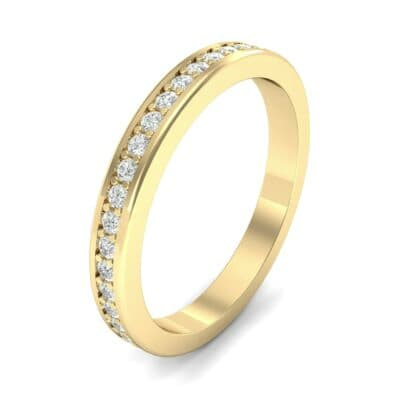 Light Flat-Sided Pave Diamond Eternity Ring (0.42 Carat)