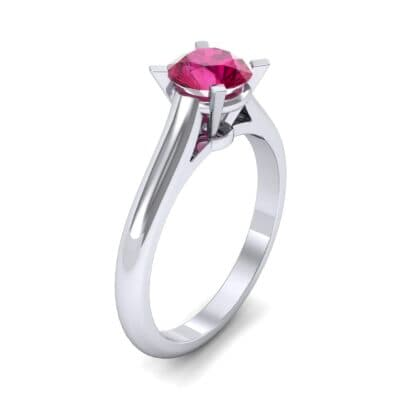 Classic Cathedral Solitaire Ruby Engagement Ring (0.84 CTW) Perspective View