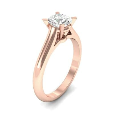 Classic Cathedral Solitaire Diamond Engagement Ring (0.84 CTW) Perspective View