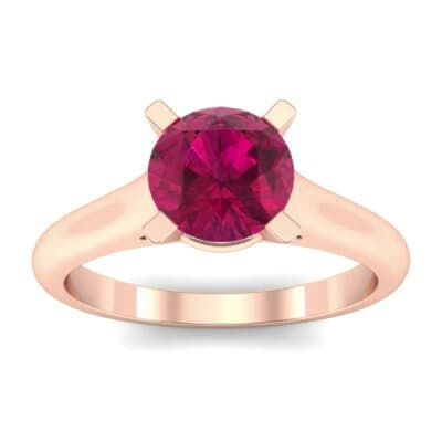 Classic Cathedral Solitaire Ruby Engagement Ring (0.84 CTW) Top Dynamic View