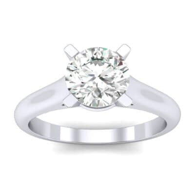 Classic Cathedral Solitaire Diamond Engagement Ring (0.84 CTW) Top Dynamic View