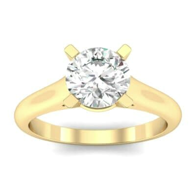 Classic Cathedral Solitaire Diamond Engagement Ring (0.84 Carat)