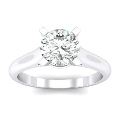 Classic Cathedral Solitaire Crystals Engagement Ring
