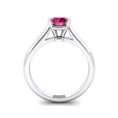 Classic Cathedral Solitaire Ruby Engagement Ring (0.84 CTW) Side View