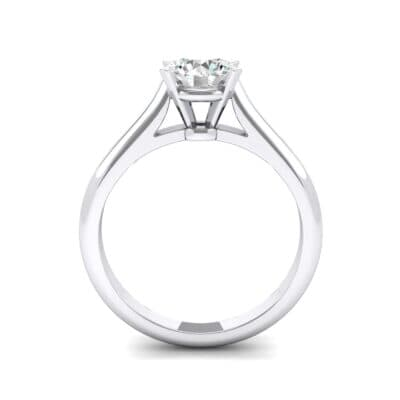 Classic Cathedral Solitaire Diamond Engagement Ring (0.84 CTW) Side View