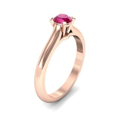 Petite Cathedral Solitaire Ruby Engagement Ring (0.47 Carat)