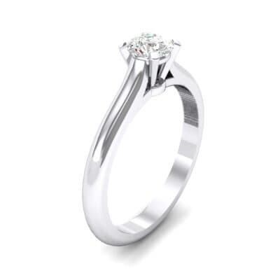Petite Cathedral Solitaire Diamond Engagement Ring (0.44 CTW) Perspective View