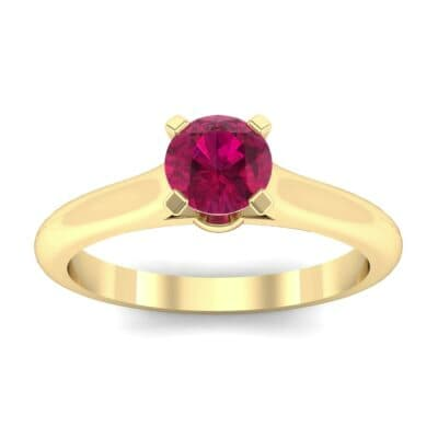 Petite Cathedral Solitaire Ruby Engagement Ring (0.47 CTW) Top Dynamic View