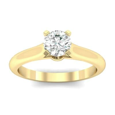 Petite Cathedral Solitaire Diamond Engagement Ring (0.44 CTW) Top Dynamic View