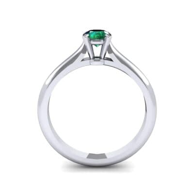 Petite Cathedral Solitaire Emerald Engagement Ring (0.47 CTW) Side View