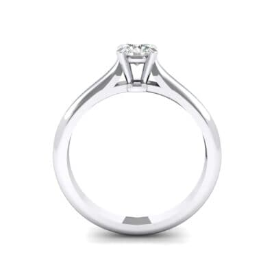 Petite Cathedral Solitaire Diamond Engagement Ring (0.44 CTW) Side View