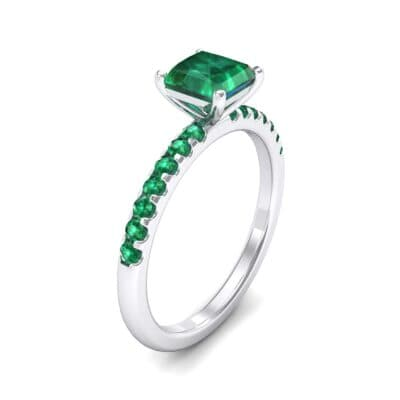 Princess-Cut Emerald Engagement Ring (1.13 Carat)