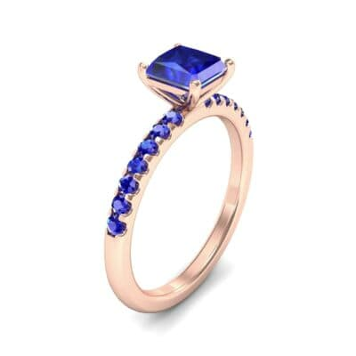 Princess-Cut Blue Sapphire Engagement Ring (1.13 Carat)