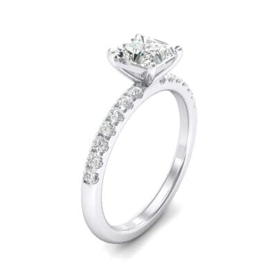 Princess-Cut Crystals Engagement Ring (0.67 Carat)