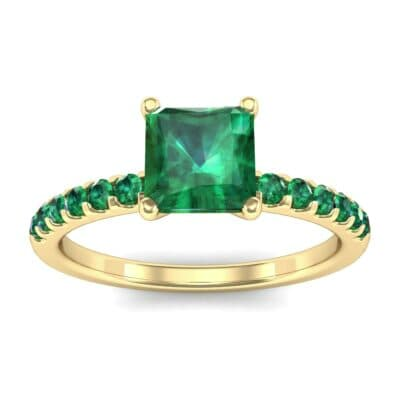 Princess-Cut Emerald Engagement Ring (1.13 Carat)