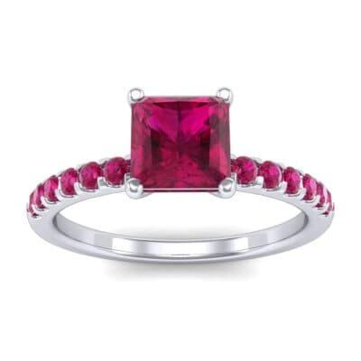 Princess-Cut Ruby Engagement Ring (1.13 Carat)