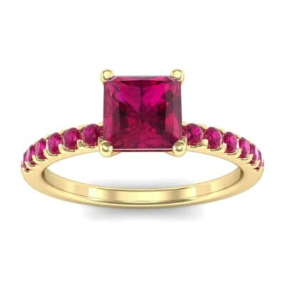 Princess-Cut Ruby Engagement Ring (1.13 Carat)