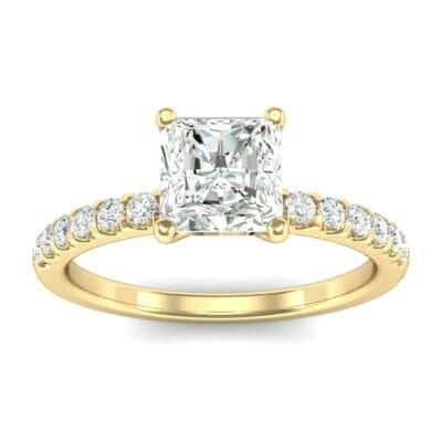 Princess-Cut Diamond Engagement Ring (0.67 Carat)