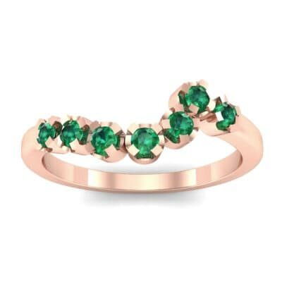Seven-Stone Constellation Emerald Ring (0.28 Carat)