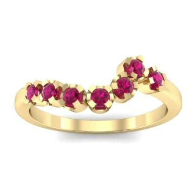 Seven-Stone Constellation Ruby Ring (0.28 Carat)