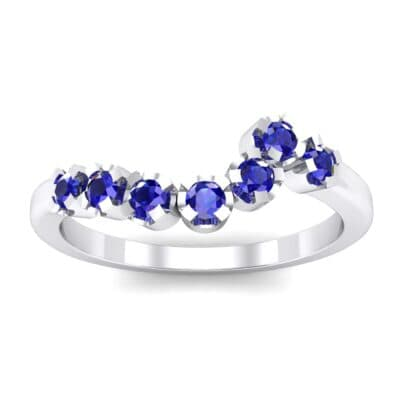 Seven-Stone Constellation Blue Sapphire Ring (0.28 Carat)