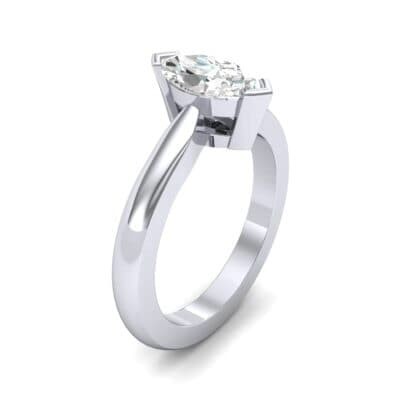 Flat Shank Marquise Solitaire Diamond Engagement Ring (0.47 CTW) Perspective View