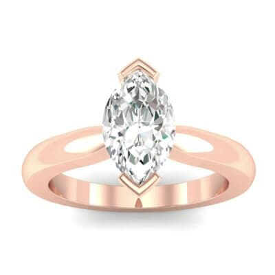 Flat Shank Marquise Solitaire Diamond Engagement Ring (0.47 CTW) Top Dynamic View