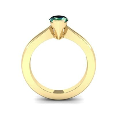 Flat Shank Marquise Solitaire Emerald Engagement Ring (0.75 CTW) Side View