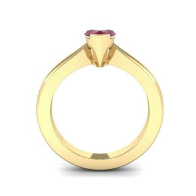 Flat Shank Marquise Solitaire Ruby Engagement Ring (0.75 CTW) Side View