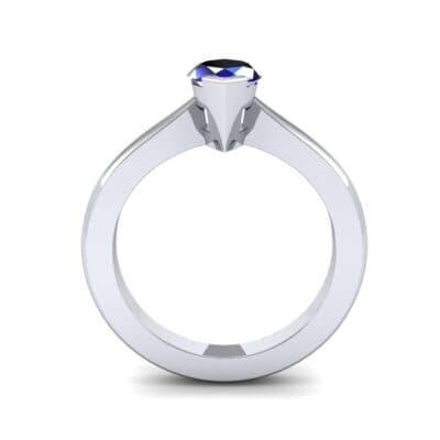 Flat Shank Marquise Solitaire Blue Sapphire Engagement Ring (0.75 CTW) Side View