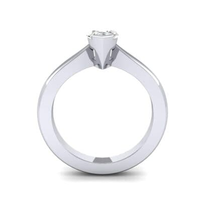 Flat Shank Marquise Solitaire Diamond Engagement Ring (0.47 CTW) Side View