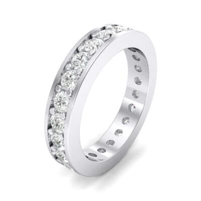 Luxe Flat-Sided Pave Crystals Eternity Ring (1.61 Carat)
