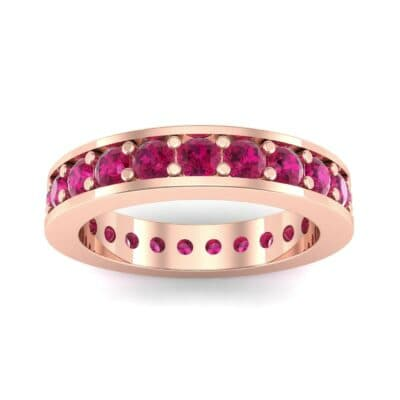 Luxe Flat-Sided Pave Ruby Eternity Ring (2.07 Carat)