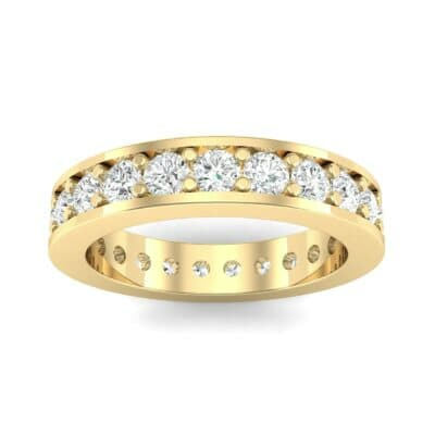 Luxe Flat-Sided Pave Diamond Eternity Ring (1.61 Carat)