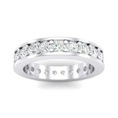 Luxe Flat-Sided Pave Crystal Eternity Ring (1.61 CTW) Top Dynamic View