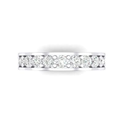 Luxe Flat-Sided Pave Crystal Eternity Ring (1.61 CTW) Top Flat View