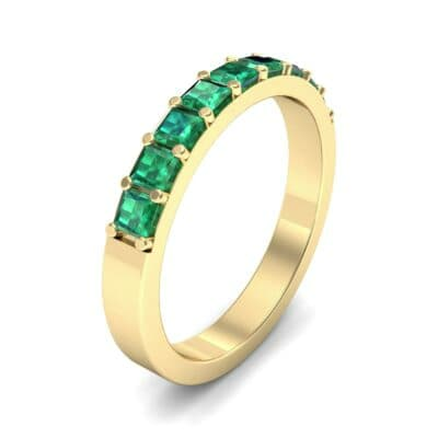 Shared-Prong Princess-Cut Emerald Ring (0.36 Carat)